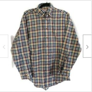 Brooks Brothers plaid long sleeve button shirt S